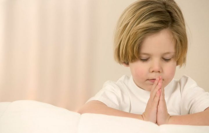 La storia di un bambino che è stato in braccio a Gesù.